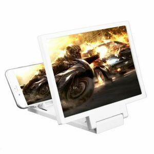 """LED21 3D Zvětšovací sklo 8"""" obrazovky mobilního telefonu. Barva bílá."""